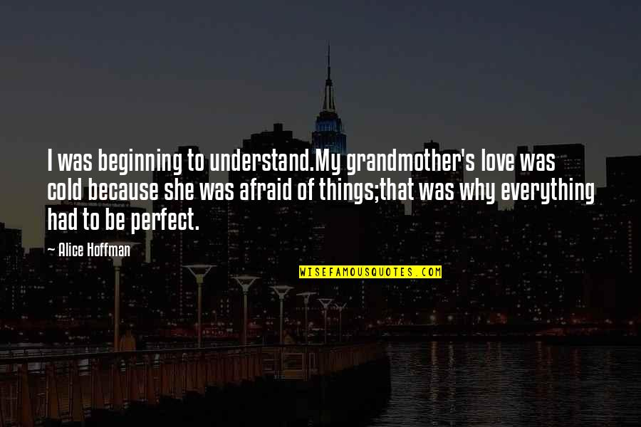 I Love My Grandmother Quotes By Alice Hoffman: I was beginning to understand.My grandmother's love was