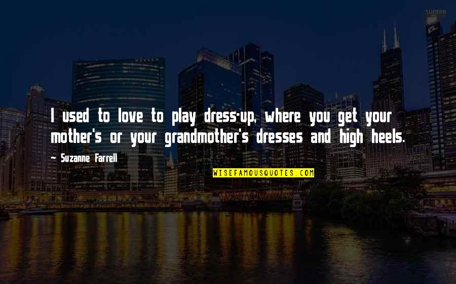 I Love My Grandmother Quotes By Suzanne Farrell: I used to love to play dress-up, where