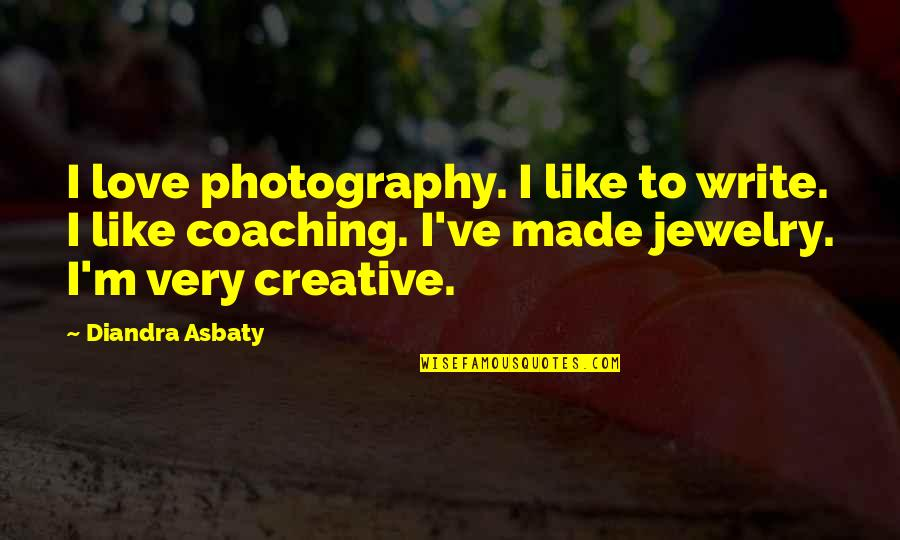 I Love My Photography Quotes By Diandra Asbaty: I love photography. I like to write. I