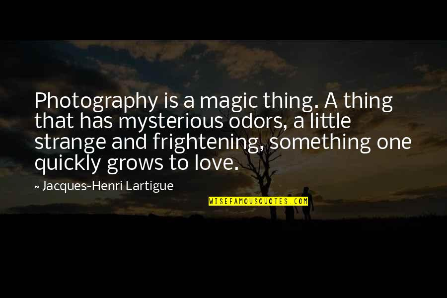 I Love My Photography Quotes By Jacques-Henri Lartigue: Photography is a magic thing. A thing that