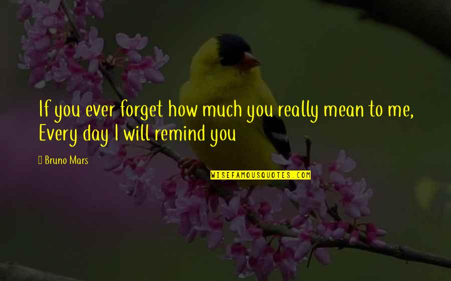 I Love You Mean Quotes By Bruno Mars: If you ever forget how much you really