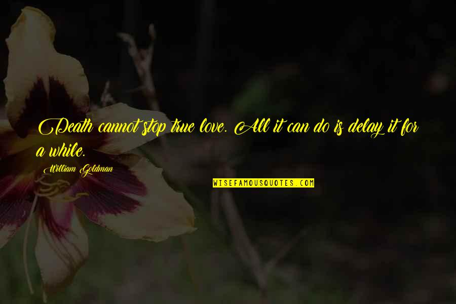 I Love You Too Death Quotes By William Goldman: Death cannot stop true love. All it can
