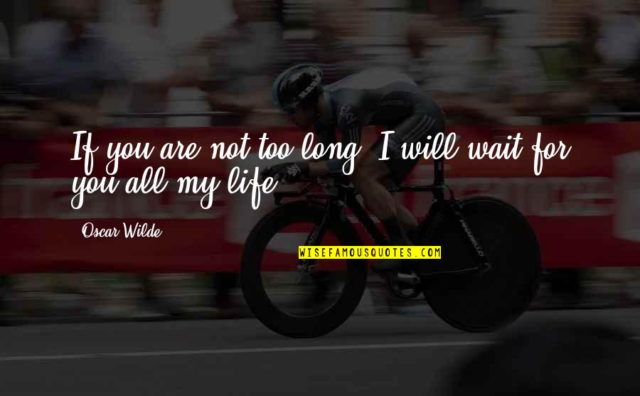 I Love You Too Funny Quotes By Oscar Wilde: If you are not too long, I will