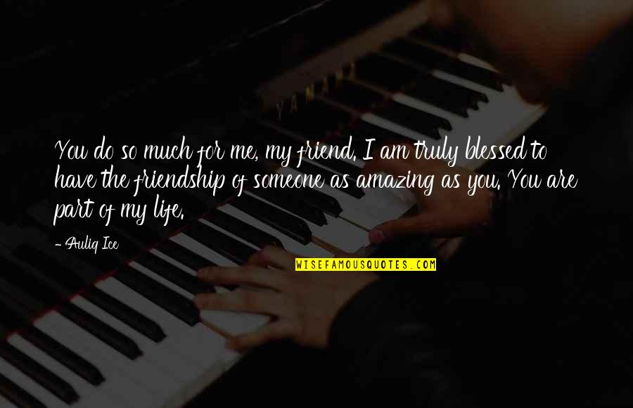 I Love You You're Amazing Quotes By Auliq Ice: You do so much for me, my friend.