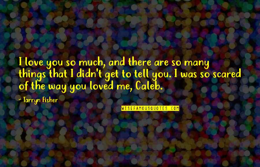 I Loved You But You Didn't Love Me Quotes By Tarryn Fisher: I love you so much, and there are
