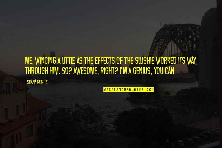 I M Awesome Quotes By Shana Norris: Me, wincing a little as the effects of