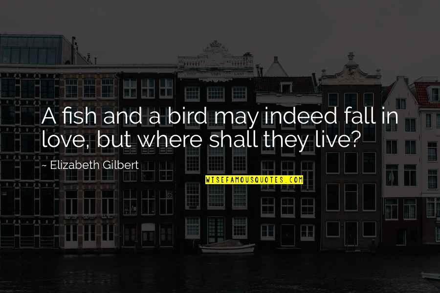 I May Fall Quotes By Elizabeth Gilbert: A fish and a bird may indeed fall