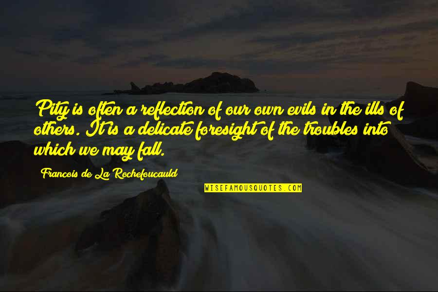I May Fall Quotes By Francois De La Rochefoucauld: Pity is often a reflection of our own