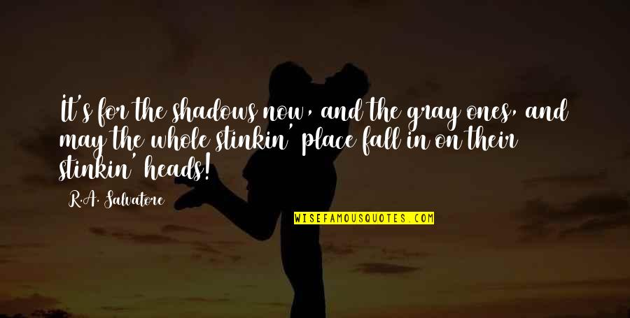 I May Fall Quotes By R.A. Salvatore: It's for the shadows now, and the gray