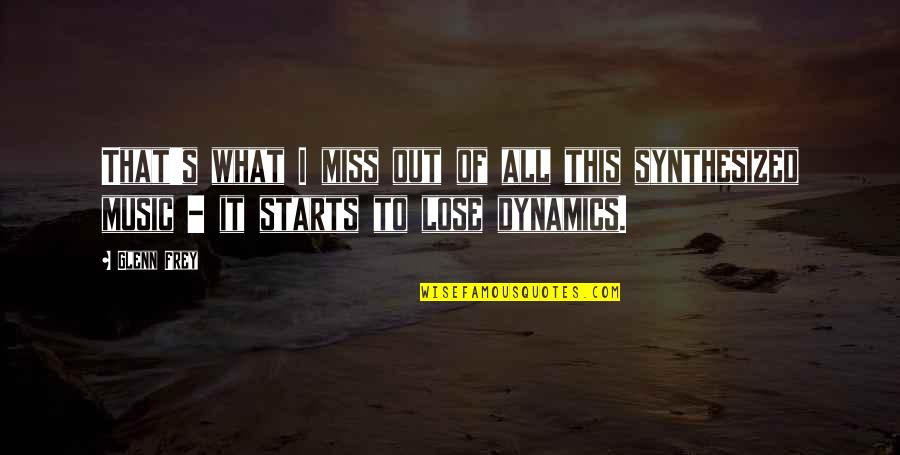 I Miss You More Quotes By Glenn Frey: That's what I miss out of all this