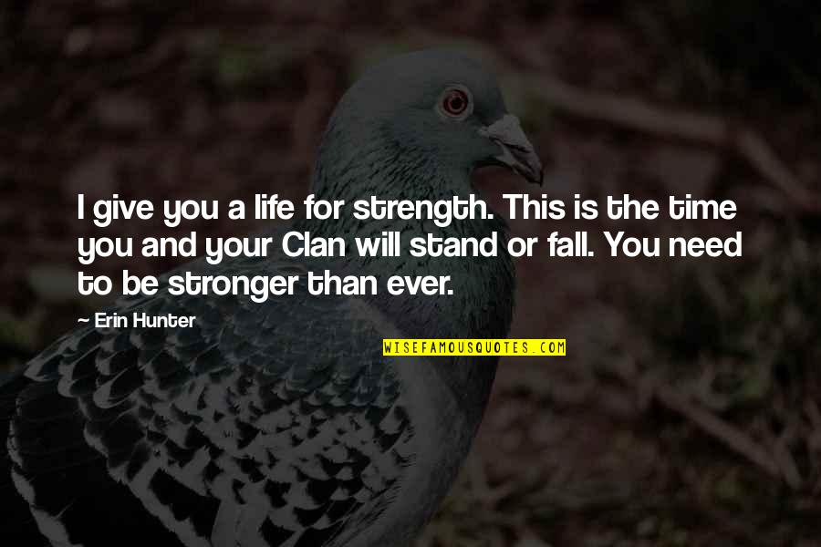 I Need This Quotes By Erin Hunter: I give you a life for strength. This
