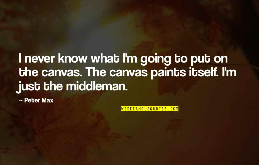 I Never Know Quotes By Peter Max: I never know what I'm going to put