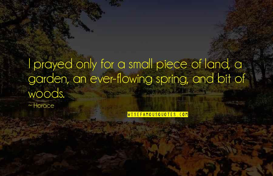 I Prayed Quotes By Horace: I prayed only for a small piece of