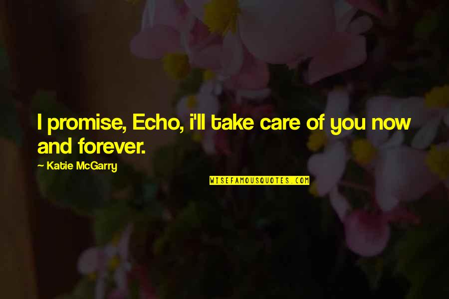 I Promise You Quotes By Katie McGarry: I promise, Echo, i'll take care of you