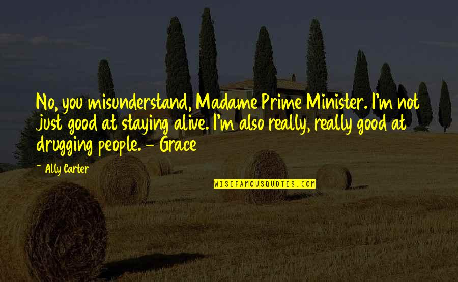 I Really You Quotes By Ally Carter: No, you misunderstand, Madame Prime Minister. I'm not