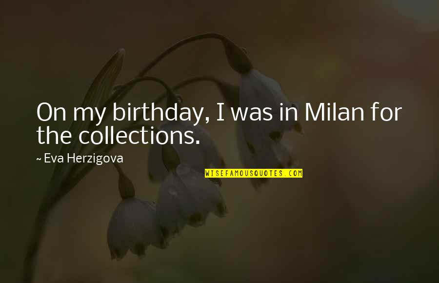 I Say I'm Fine But Im Really Not Quotes By Eva Herzigova: On my birthday, I was in Milan for