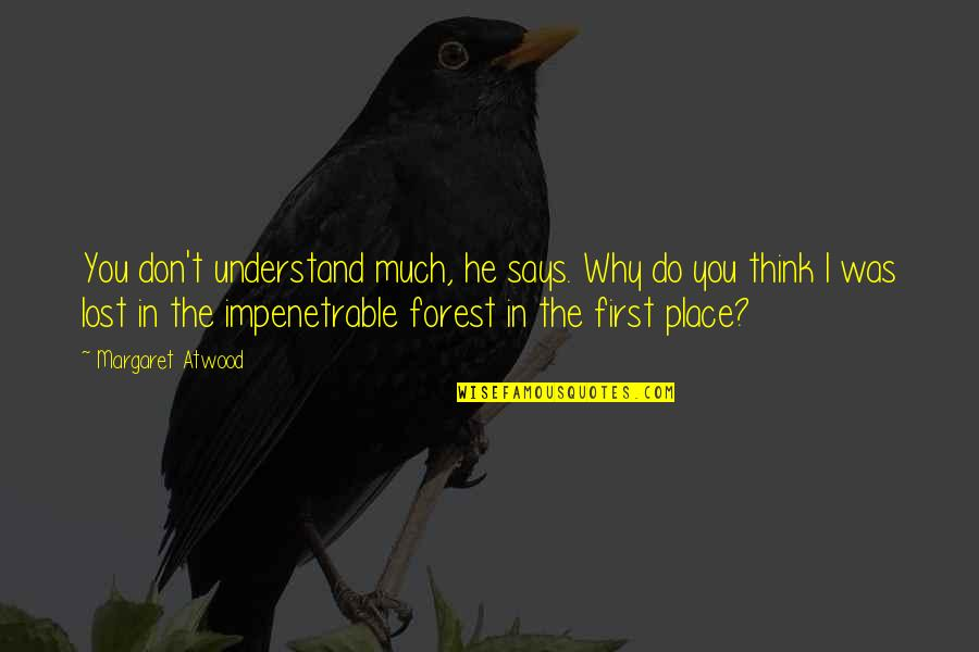 I Think I Lost You Quotes By Margaret Atwood: You don't understand much, he says. Why do