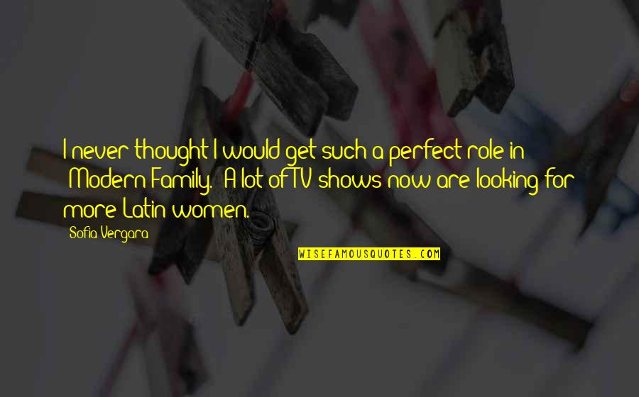 I Thought You Were Perfect Quotes By Sofia Vergara: I never thought I would get such a