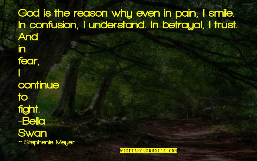 I Understand Your Pain Quotes By Stephenie Meyer: God is the reason why even in pain,