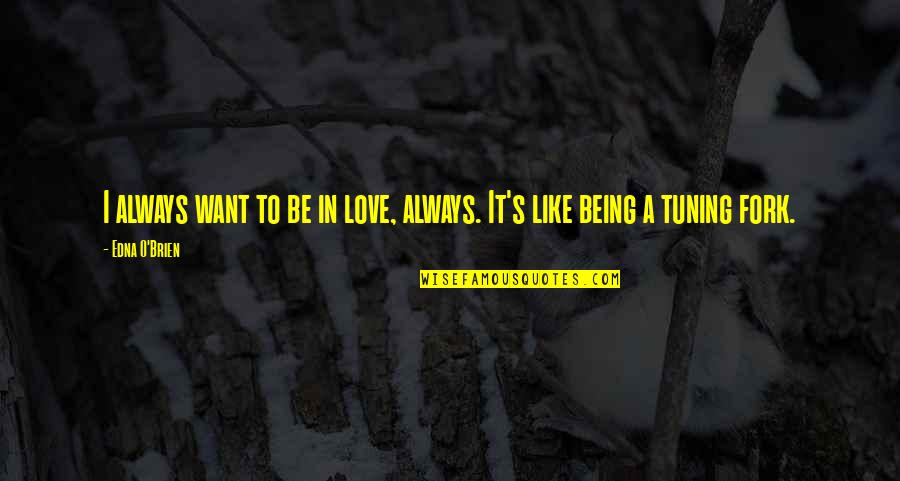 I Used To Believe In Love Quotes By Edna O'Brien: I always want to be in love, always.