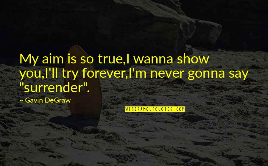 I Wanna Show You Off Quotes By Gavin DeGraw: My aim is so true,I wanna show you,I'll