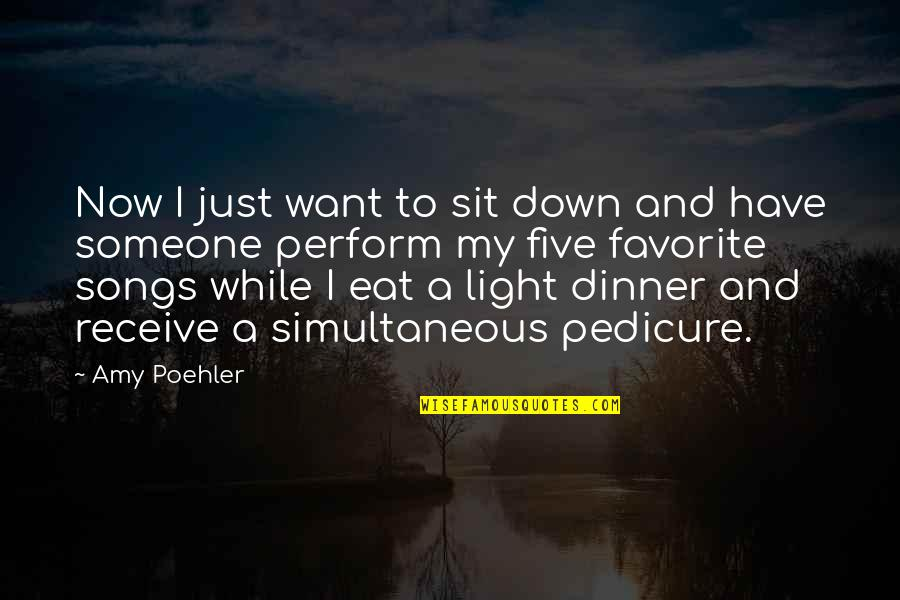 I Want Someone Quotes By Amy Poehler: Now I just want to sit down and