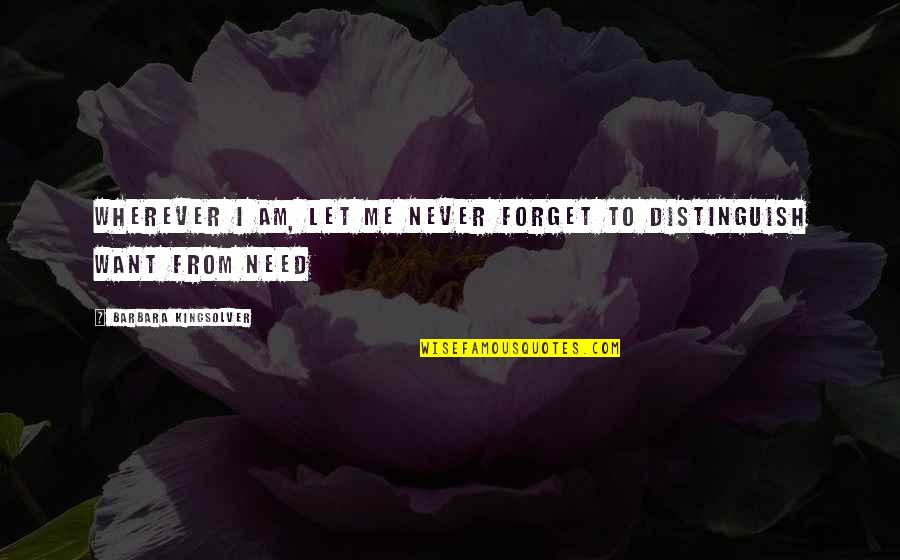 I Want To Forget Quotes By Barbara Kingsolver: Wherever I am, let me never forget to
