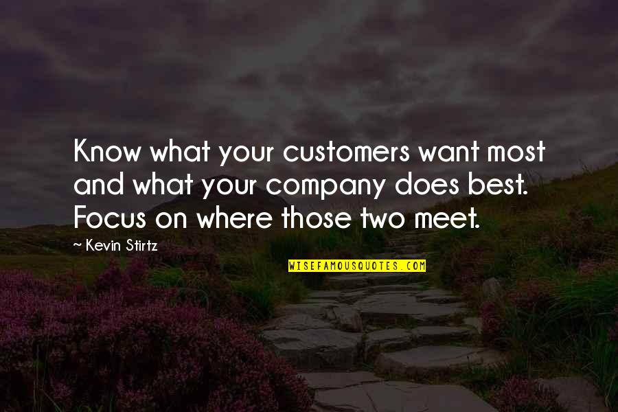 I Want You More Than You Know Quotes By Kevin Stirtz: Know what your customers want most and what