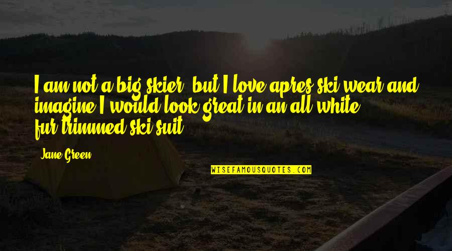 I Wear A Suit Quotes By Jane Green: I am not a big skier, but I