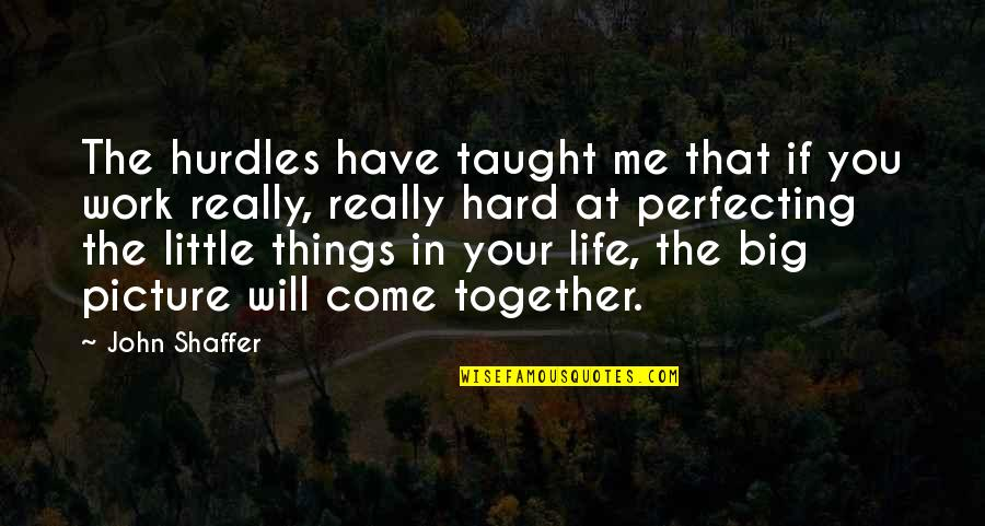 I Will Be There For You Picture Quotes By John Shaffer: The hurdles have taught me that if you