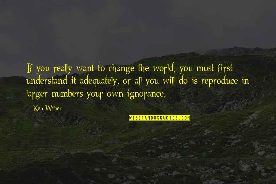 I Will Change The World Quotes By Ken Wilber: If you really want to change the world,