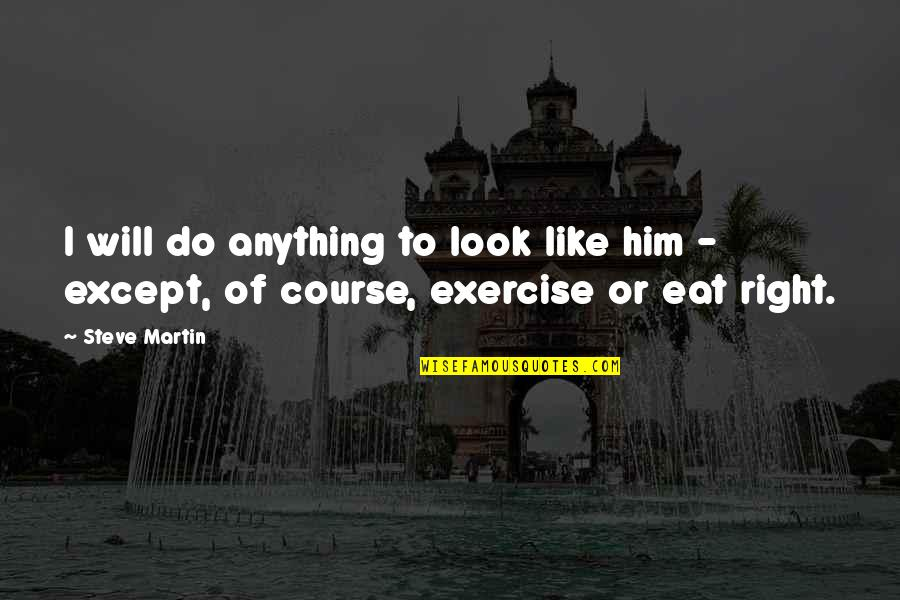 I Will Do Anything For Him Quotes By Steve Martin: I will do anything to look like him