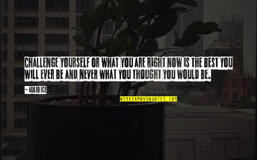 I Will Never Change You Quotes By Auliq Ice: Challenge yourself or what you are right now
