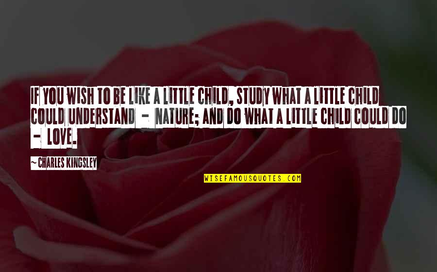 I Wish You Could Understand Quotes By Charles Kingsley: If you wish to be like a little