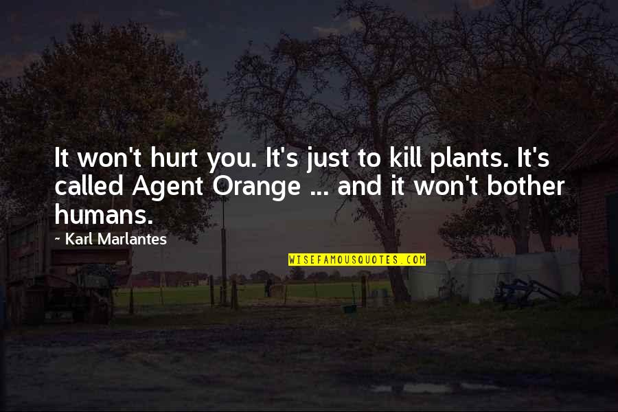 I Won't Hurt You Quotes By Karl Marlantes: It won't hurt you. It's just to kill