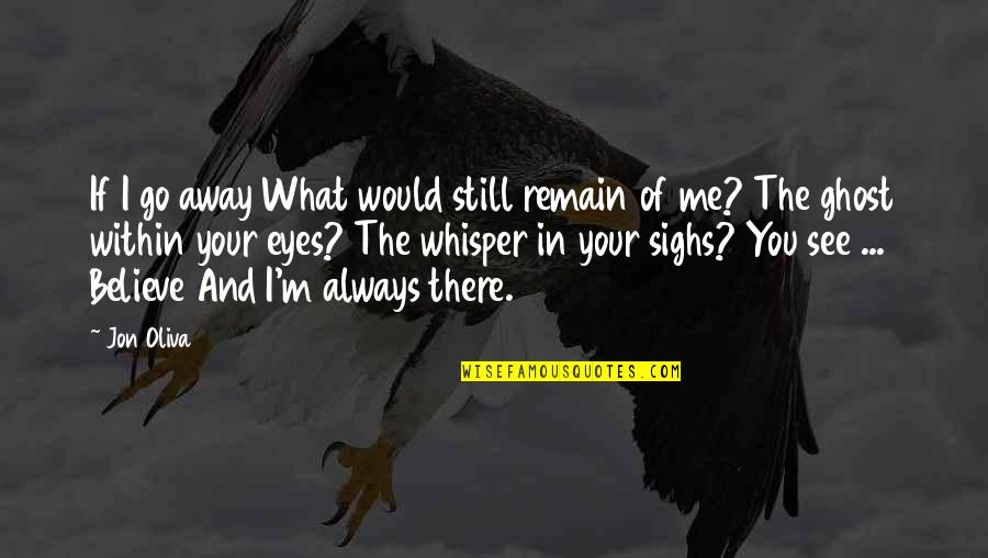 I Would Always Love You Quotes By Jon Oliva: If I go away What would still remain