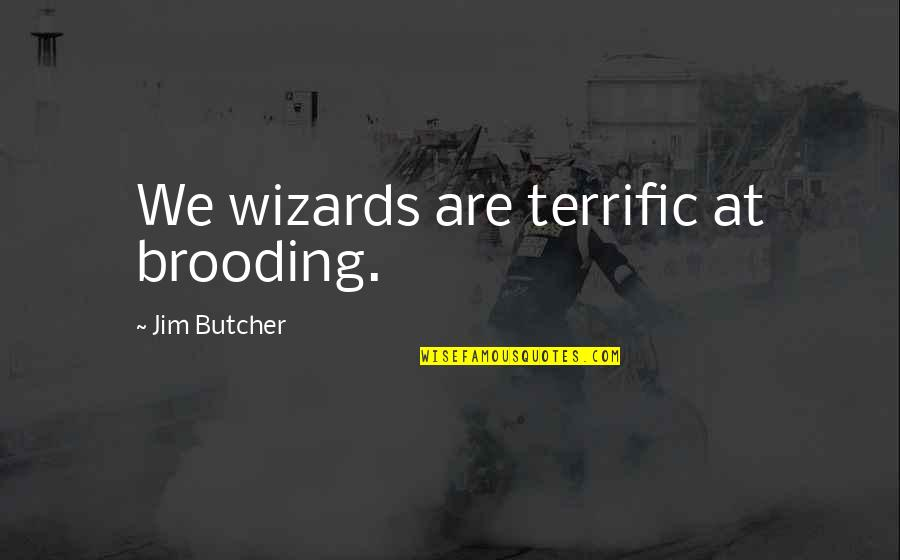 Icc Cricket World Cup 2015 Quotes By Jim Butcher: We wizards are terrific at brooding.