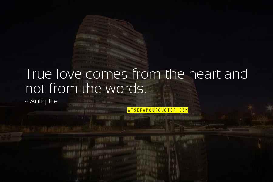 Ice Heart Quotes By Auliq Ice: True love comes from the heart and not