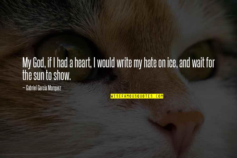 Ice Heart Quotes By Gabriel Garcia Marquez: My God, if I had a heart, I
