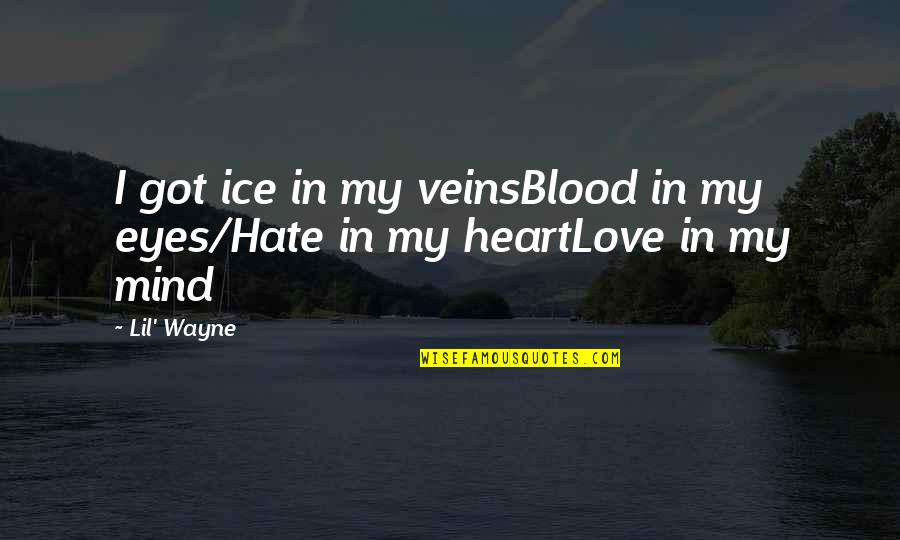 Ice Heart Quotes By Lil' Wayne: I got ice in my veinsBlood in my
