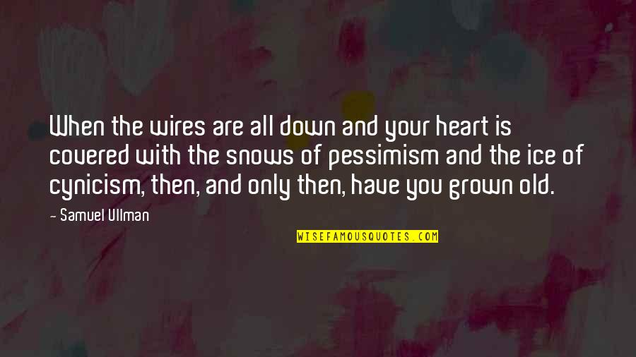Ice Heart Quotes By Samuel Ullman: When the wires are all down and your