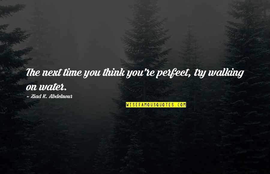 Ida Pawel Pawlikowski Quotes By Ziad K. Abdelnour: The next time you think you're perfect, try