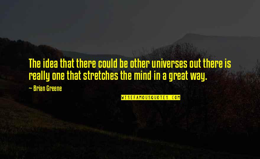 Idea Quotes By Brian Greene: The idea that there could be other universes