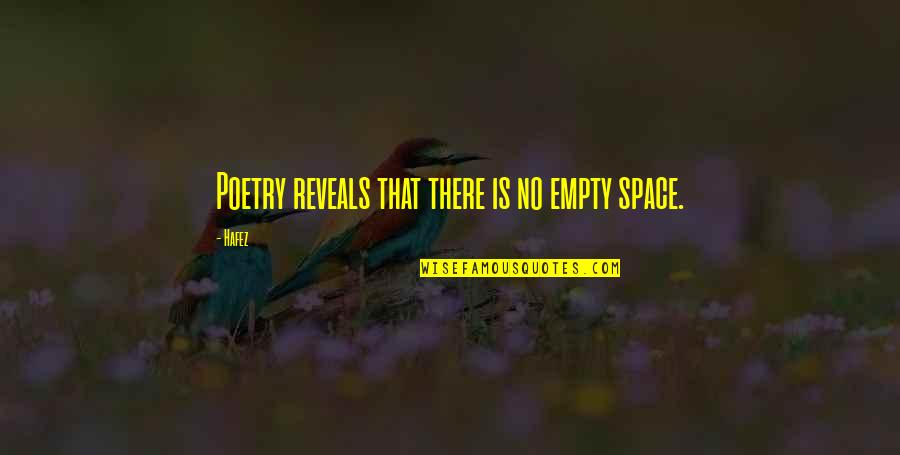Ideas For Headstone Quotes By Hafez: Poetry reveals that there is no empty space.