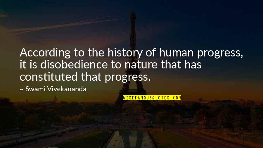 Ideas For Headstone Quotes By Swami Vivekananda: According to the history of human progress, it