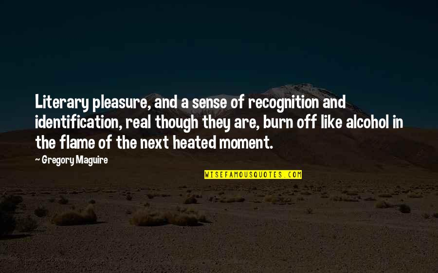 Identification Quotes By Gregory Maguire: Literary pleasure, and a sense of recognition and