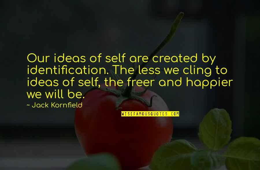 Identification Quotes By Jack Kornfield: Our ideas of self are created by identification.