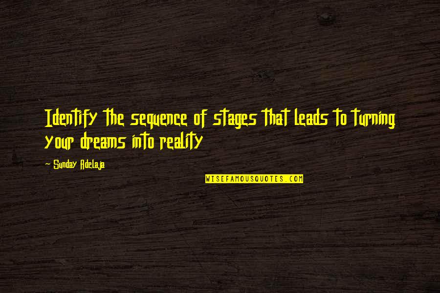 Identification Quotes By Sunday Adelaja: Identify the sequence of stages that leads to