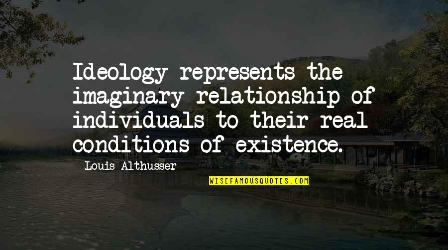 Ideology Quotes By Louis Althusser: Ideology represents the imaginary relationship of individuals to