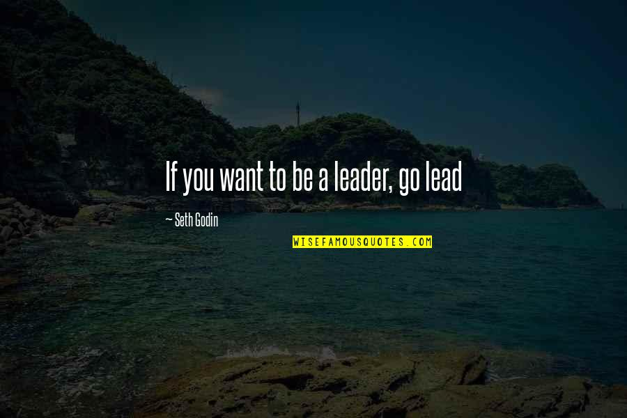 Idi Amin Uganda Quotes By Seth Godin: If you want to be a leader, go